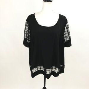 Forever Audrey Plus Size Black Lace Top NWT